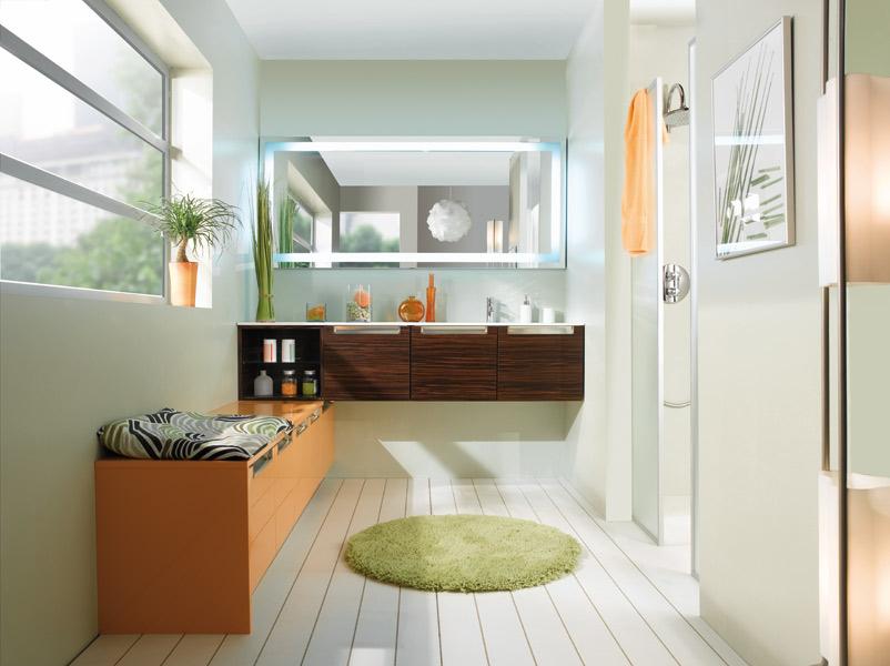 inspiration une salle de bains orange inspiration bain. Black Bedroom Furniture Sets. Home Design Ideas