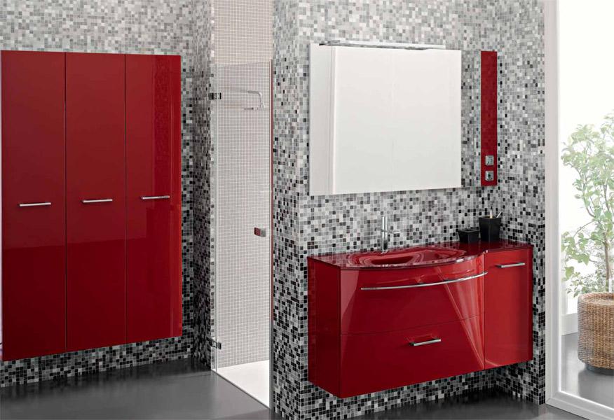 Inspiration une salle de bains rouge inspiration bain for Sanijura salle de bain