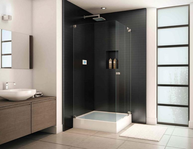 Salle de bain sans carrelage for Mur salle de bain carrelage