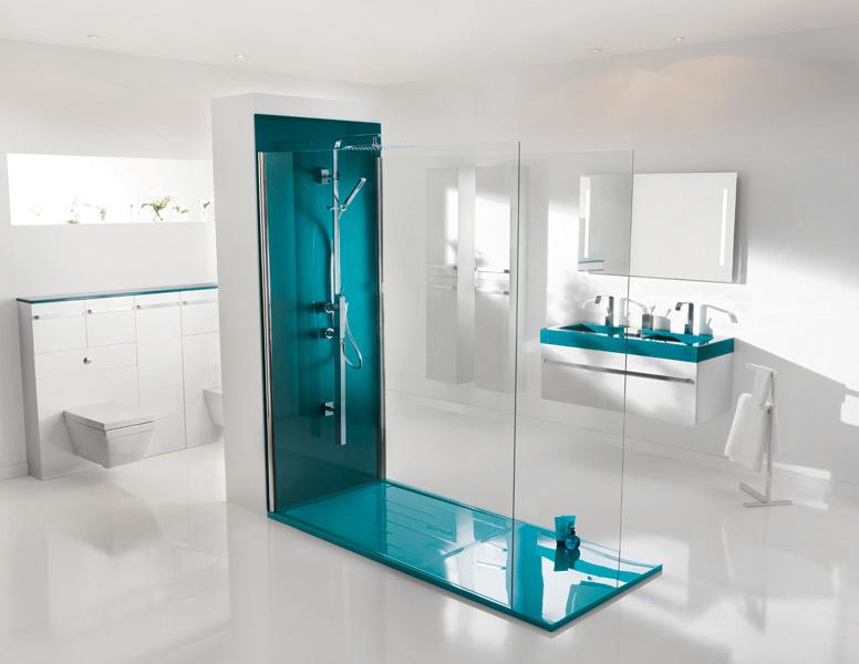 les salles de bains bleues d 39 ambiance bain inspiration bain. Black Bedroom Furniture Sets. Home Design Ideas