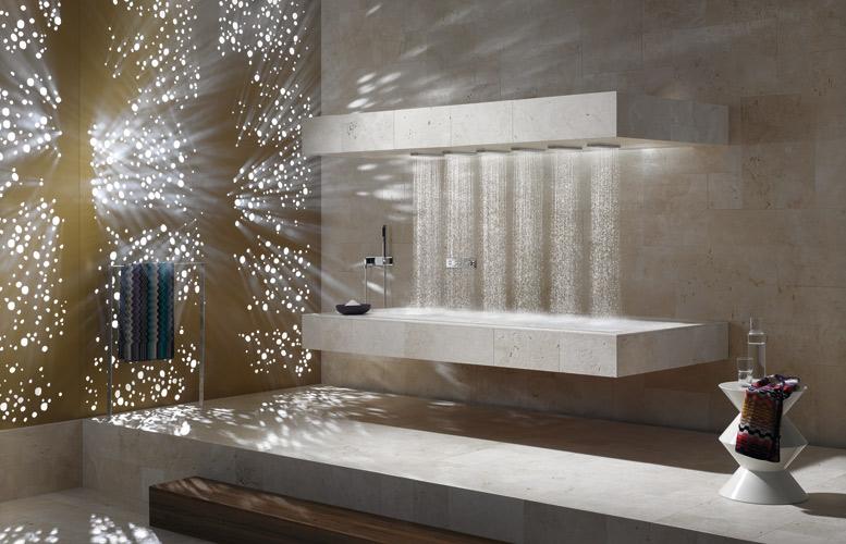 La douche horizontale de Dornbracht
