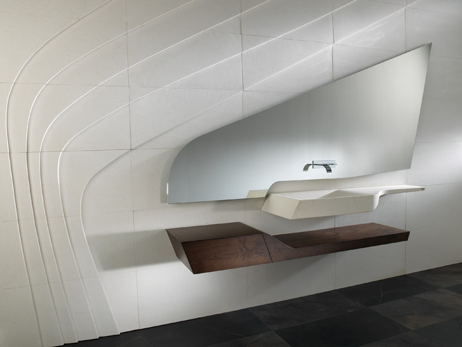 Id obain 2012 les nouveaut s de la salle de bains for Salle de bains porcelanosa