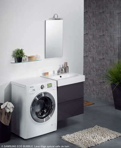 le lave linge grande capacit de samsung pour petite pi ce inspiration bain. Black Bedroom Furniture Sets. Home Design Ideas