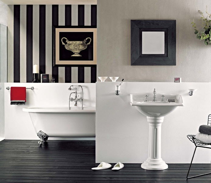 la salle de bains r tro d 39 horus inspiration bain. Black Bedroom Furniture Sets. Home Design Ideas