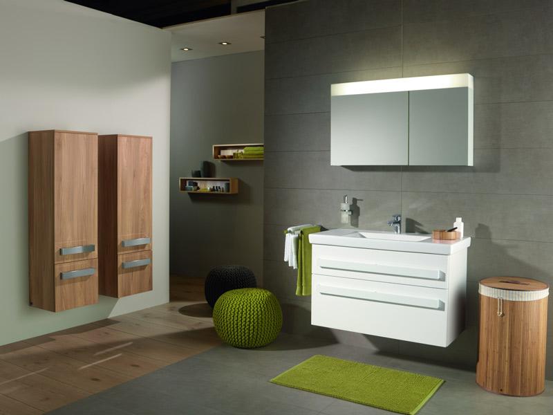 Salle de bains en bois : Villeroy et Boch