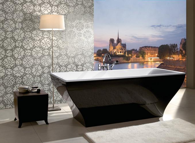 Salle de bains noire : Villeroy & Boch
