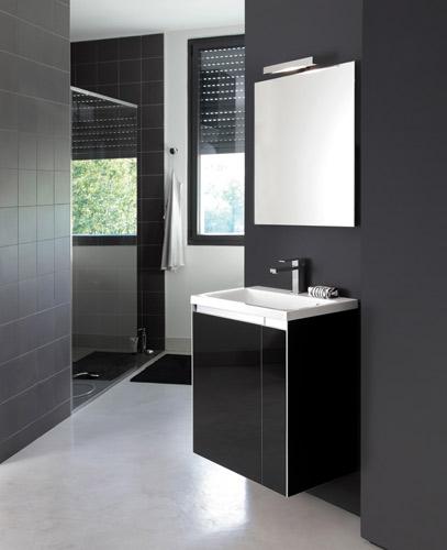 Salle de bains noire : Decotec