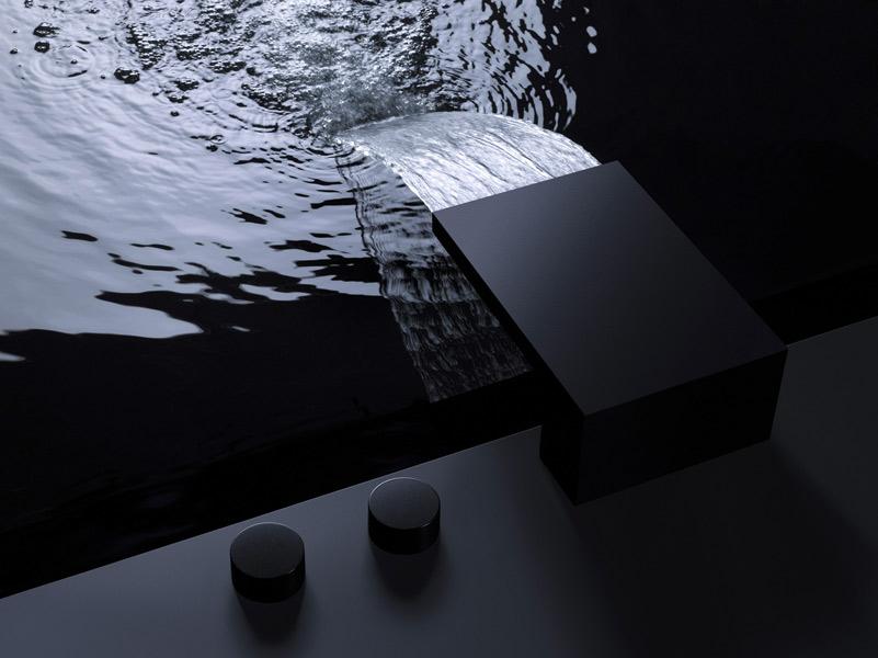 Salle de bains noire : Dornbracht