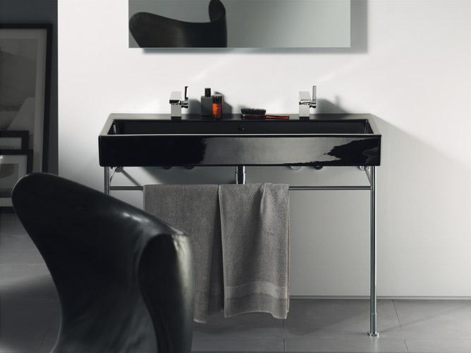 Inspiration une salle de bains noire inspiration bain for Duravit salle de bain