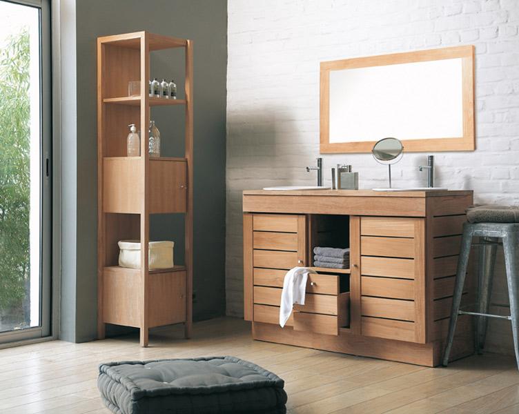 Inspiration une salle de bains en bois inspiration bain for Salle de bain avec meuble en bois