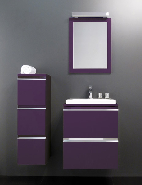 meuble salle de bain aubergine id e inspirante pour la conception de la maison. Black Bedroom Furniture Sets. Home Design Ideas