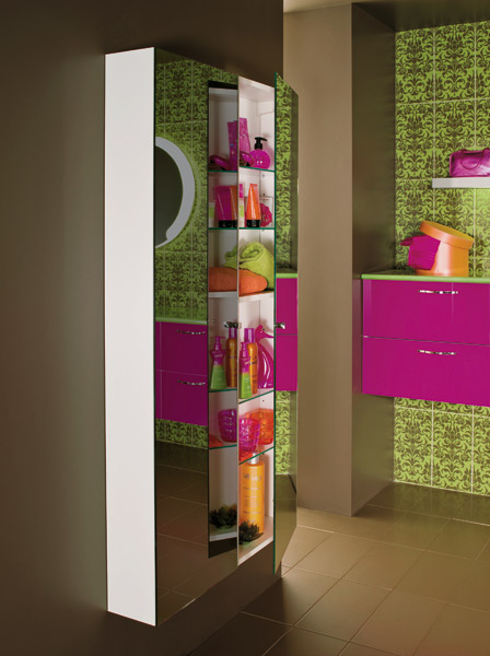 Colonnes de rangements pour la salle de bains : Mobalpa