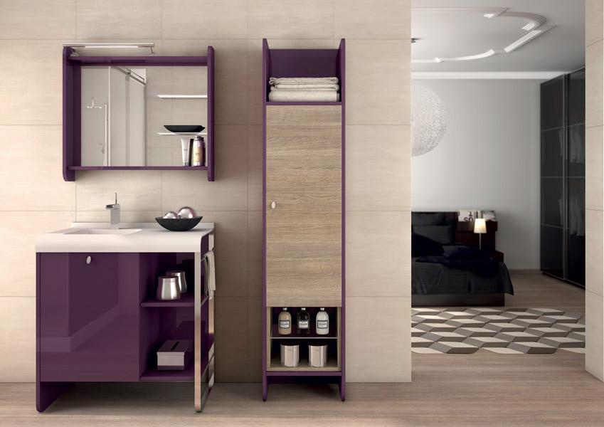 6 colonne de salle de bains 20jpg salle de bain beige et prune - Chambre Beige Et Prune