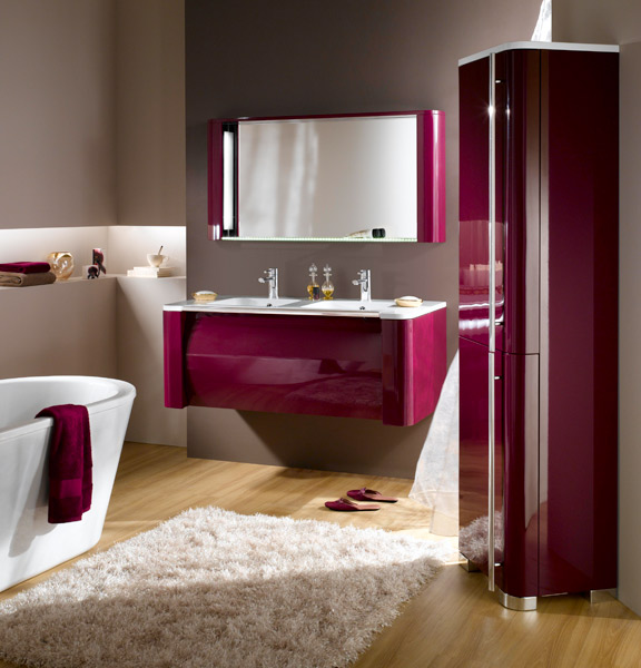 meuble de salle de bain aubergine meuble lavemains seymour aubergine with meuble de salle de. Black Bedroom Furniture Sets. Home Design Ideas