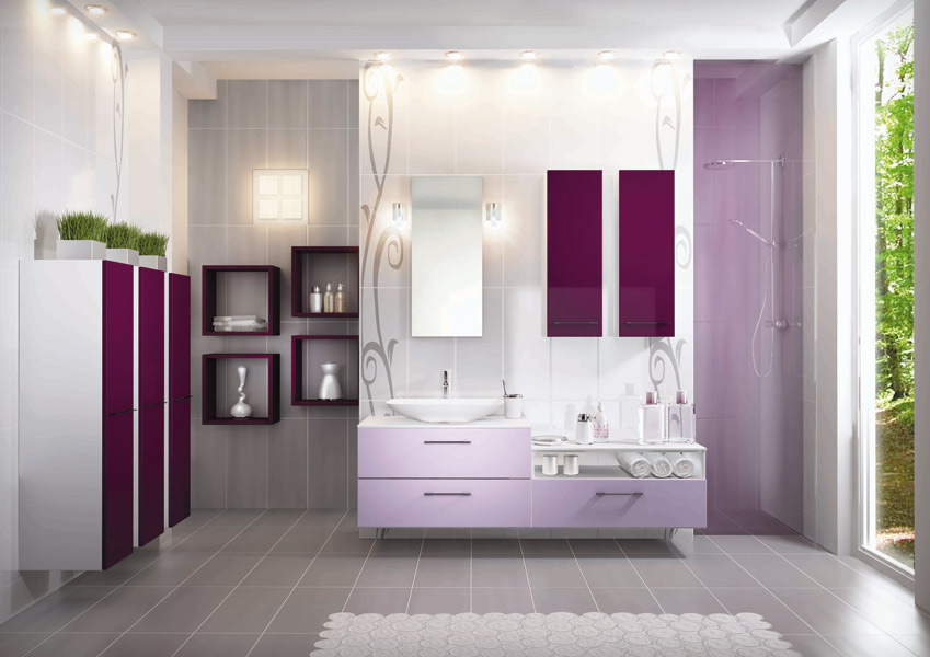 les salles de bains tendance pastel de schmidt inspiration bain. Black Bedroom Furniture Sets. Home Design Ideas