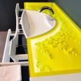 Le meuble vasque au design géométrique de Decotec