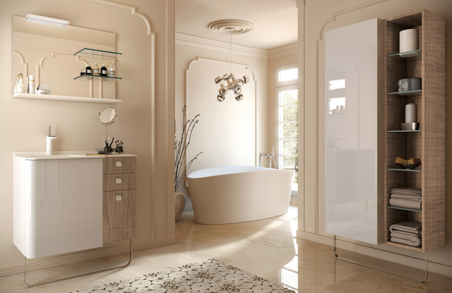 Salle de bains Secret, collection J2O de Pyram