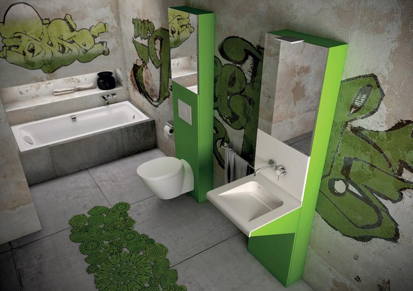 Salle de bains Totem, collection J2O de Pyram