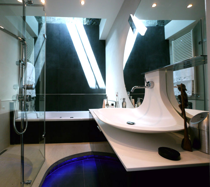 une salle de bains cocooning inspiration bain. Black Bedroom Furniture Sets. Home Design Ideas