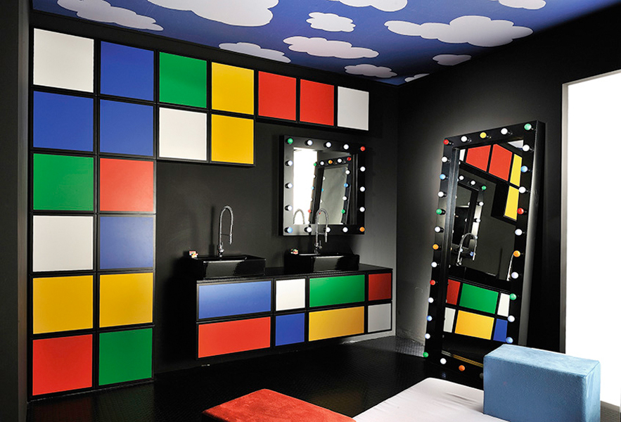 inspiration des salles de bains au look sixties. Black Bedroom Furniture Sets. Home Design Ideas
