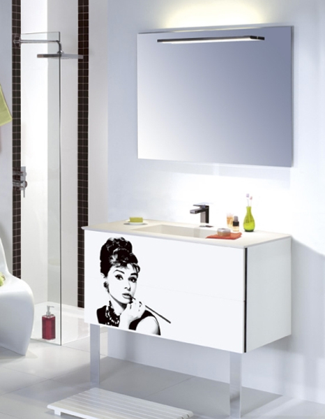 inspiration des salles de bains au look sixties inspiration bain. Black Bedroom Furniture Sets. Home Design Ideas