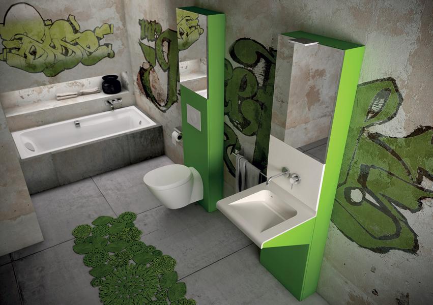 des salles de bains pour les ados inspiration bain. Black Bedroom Furniture Sets. Home Design Ideas