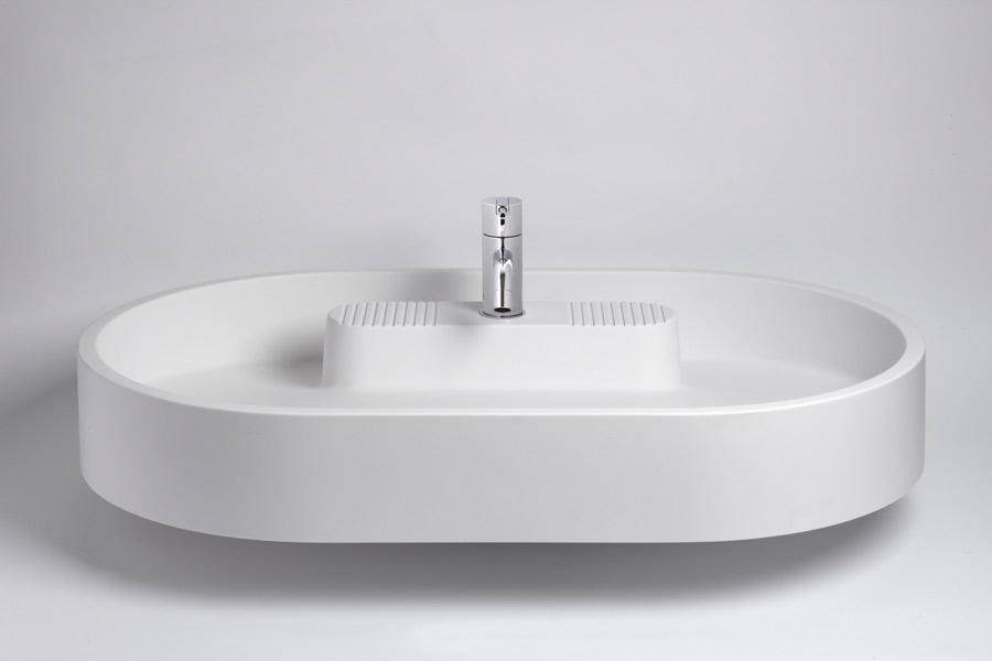 Lavabo Atollo, collection Rapsel chez Sopha Industries