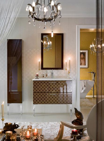 Salle de bains baroque. Collection Unique de Delpha