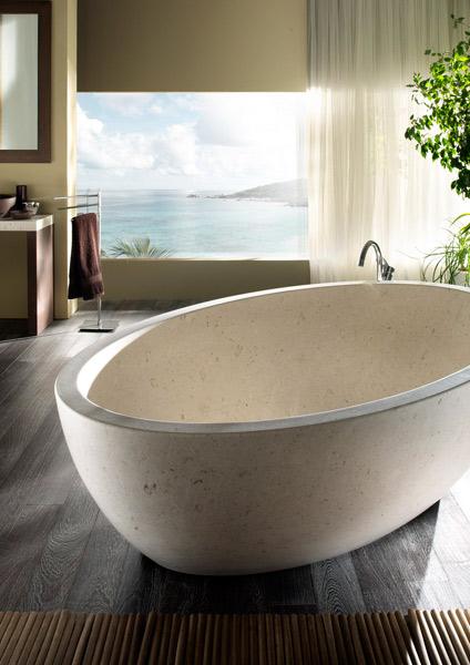 Les salles de bains en marbre de Margraf. Coll. Gaia