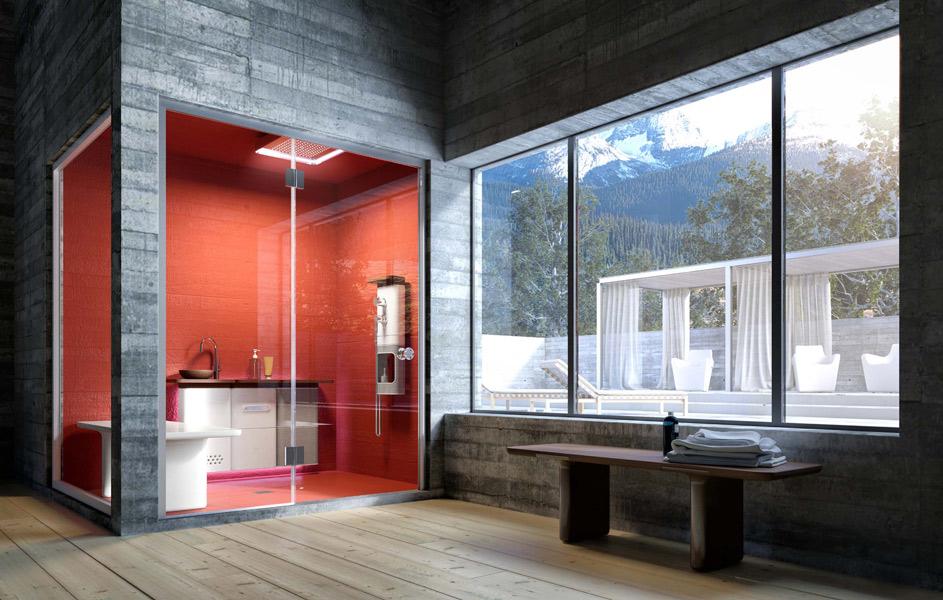 Salle de bains Babele, de Lucidi et Pevere pour Glass