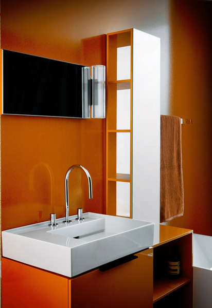 Inspiration salle de bain orange