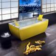 La baignoire ose la couleur chez BluBleu
