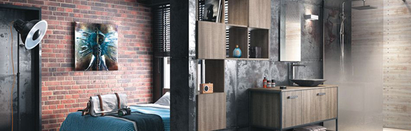 salle de bains m tal inspiration bain. Black Bedroom Furniture Sets. Home Design Ideas