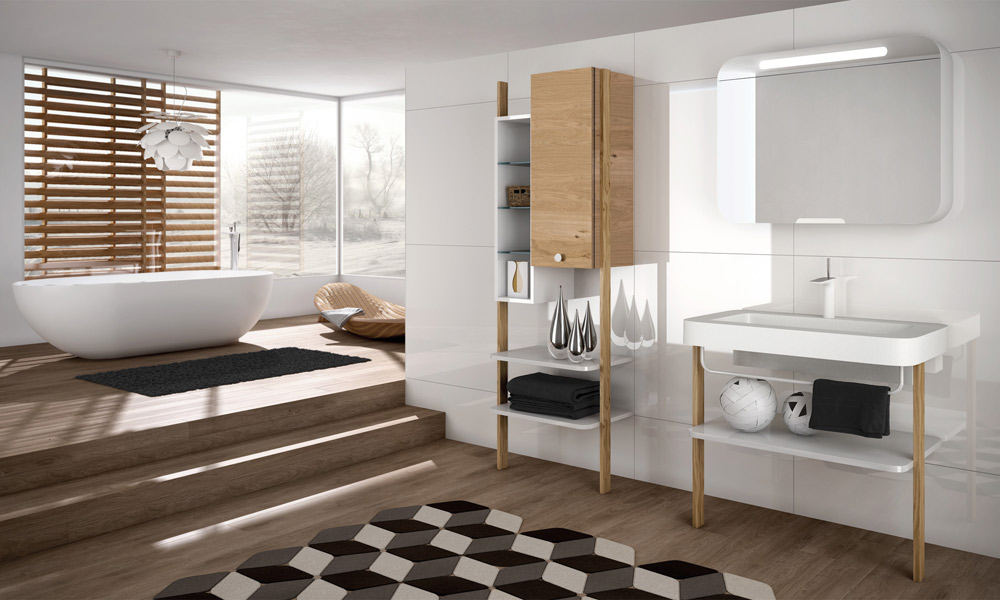 le style scandinave dans la salle de bains inspiration bain. Black Bedroom Furniture Sets. Home Design Ideas
