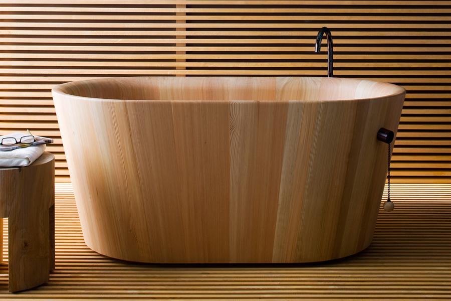 Baignoire en bois, coll. Rapsel, Sopha Industries