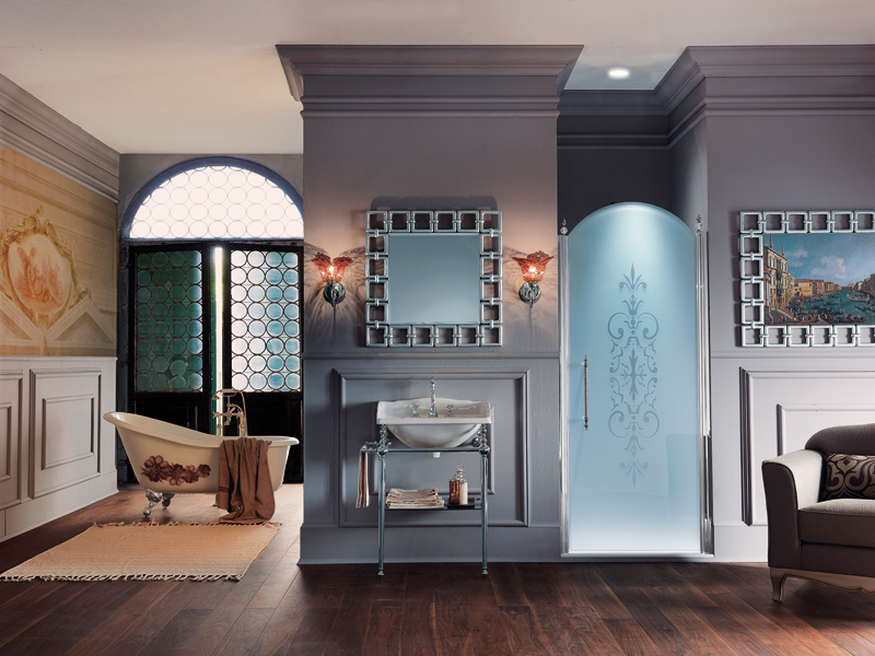 la paroi de douche de style baroque de samo inspiration bain. Black Bedroom Furniture Sets. Home Design Ideas