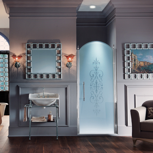Chambre Bebe Fille Rose Et Blanc : La paroi de douche de style baroque de Samo