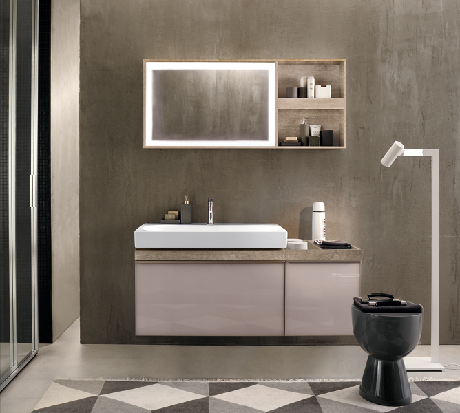 la salle de bains du designer antonio citterio inspiration bain. Black Bedroom Furniture Sets. Home Design Ideas