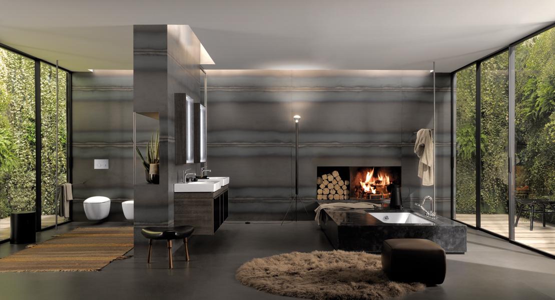 La salle de bains du designer antonio citterio for Cuisinella salle de bains
