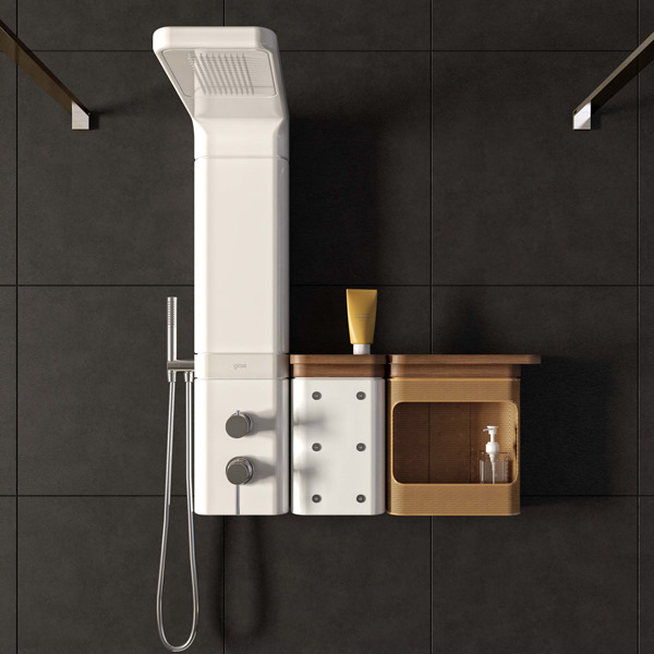 Les colonnes de douche ont une ligne d enfer inspiration bain - Colonne de douche radio ...