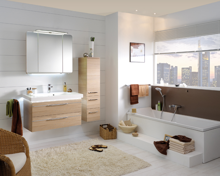 le bois dans la salle de bains inspiration bain. Black Bedroom Furniture Sets. Home Design Ideas