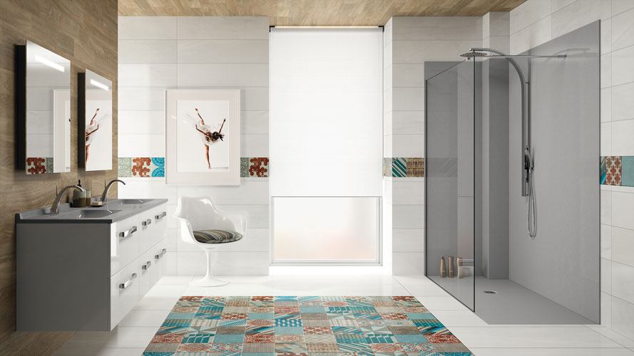 Accessoires de salles de bains cr ez votre style - Carrelage salle de bain couleur ...