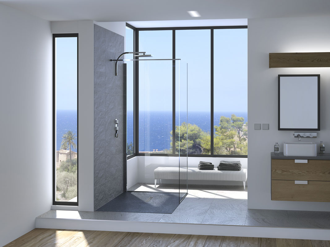 kinestone de kinedo le receveur de douche ultra l ger inspiration bain. Black Bedroom Furniture Sets. Home Design Ideas