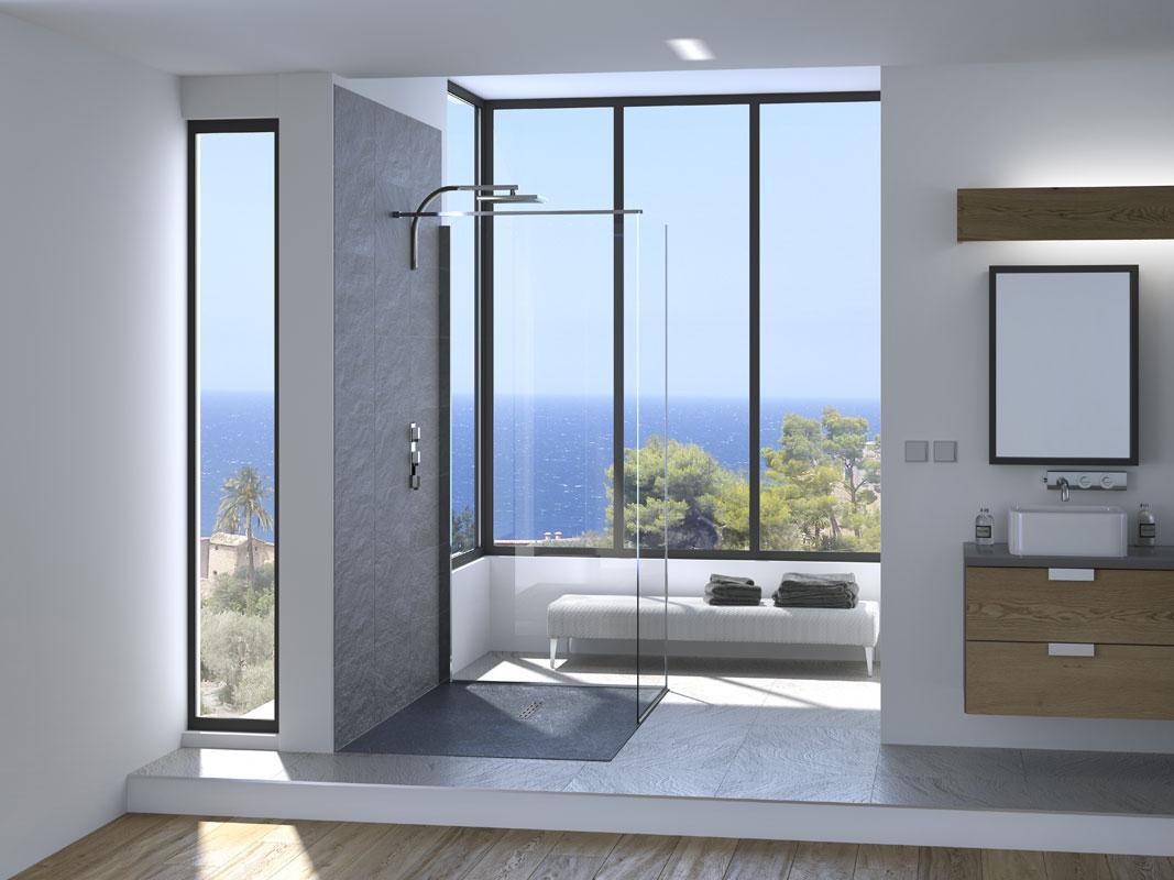 Kinestone de kinedo le receveur de douche ultra l ger inspiration bain - Receveur de douche encastrable ...