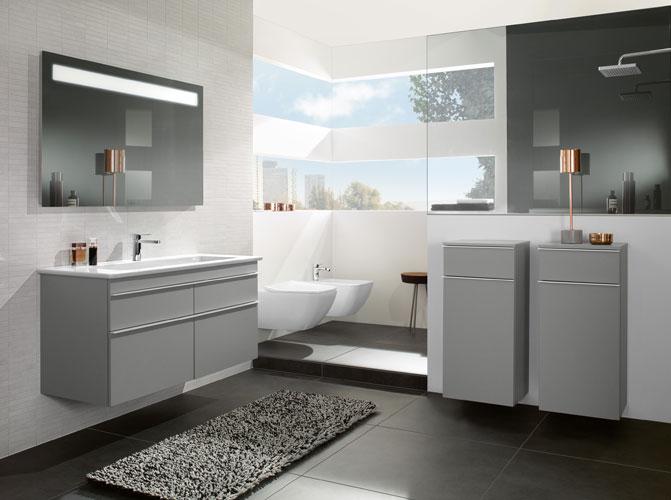 Craquez pour le gris dans la salle de bains inspiration bain for Deco salle de bain grise et blanche
