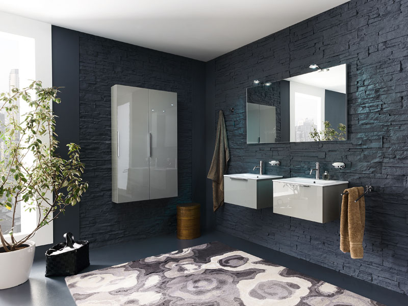 salle de bain ton gris. Black Bedroom Furniture Sets. Home Design Ideas