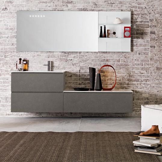 Craquez pour le gris dans la salle de bains inspiration bain for Salle bain grise