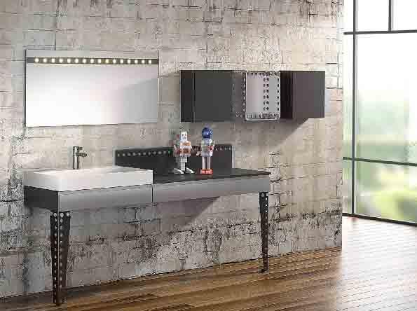 La salle de bains meccano de delpha inspiration bain for Meuble salle de bain tendance 2016