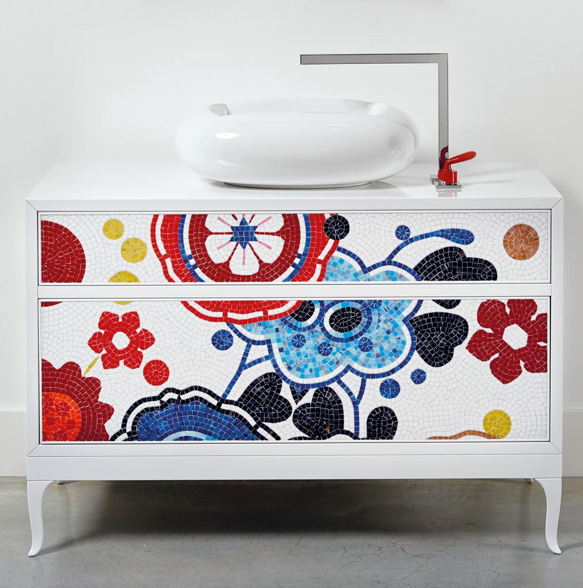 la commode vasque quand la salle de bains fait salon inspiration bain. Black Bedroom Furniture Sets. Home Design Ideas