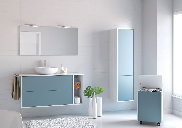 Le bleu dans la salle de bains inspiration bain for Carreau bleu mur salle de bain marseille